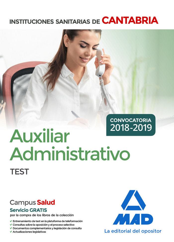 Auxiliar administrativo instituciones sanitarias cantabria