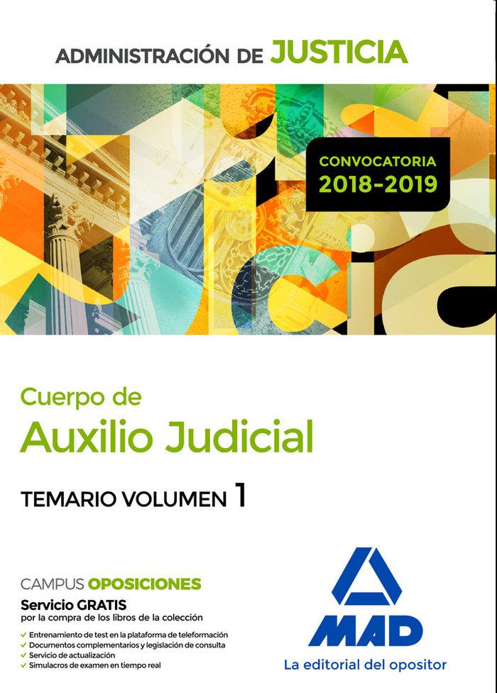 Cuerpo auxilio judicial administracion justicia vol 1