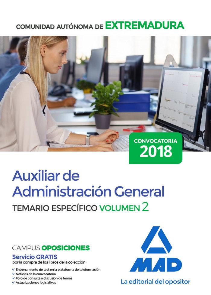 Auxiliar administrativo volumen 2 extremadura