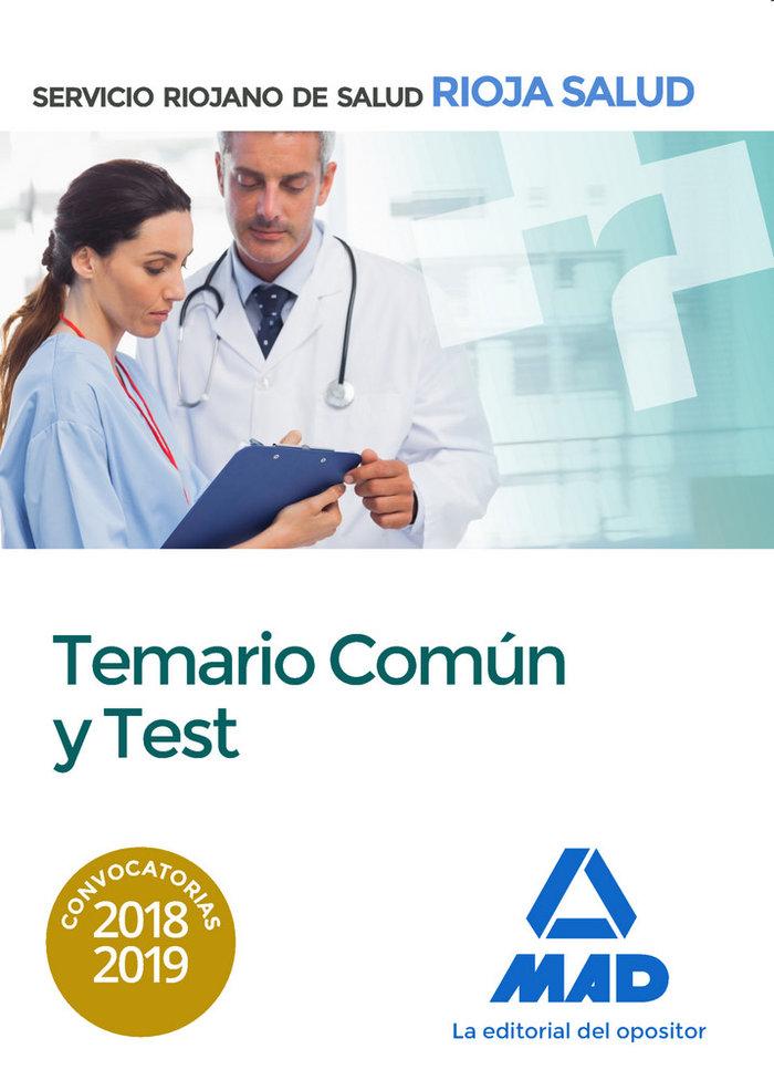 Temario comun y test servicio riojano salud