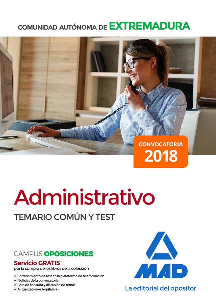 Administrativo comunidad autonoma extremadura temario comun