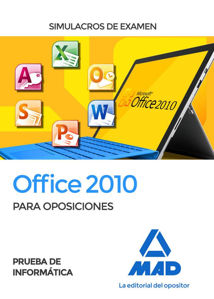 Prueba de informatica office 2010. simulacros de examen