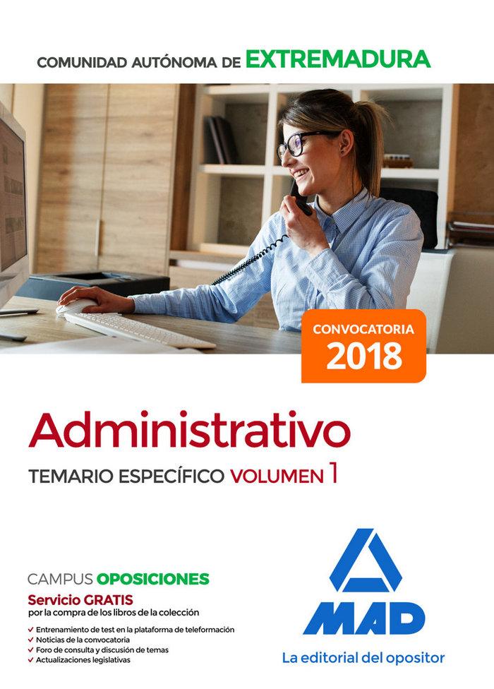 Administrativo comunidad autonoma extremadura temario vol 1