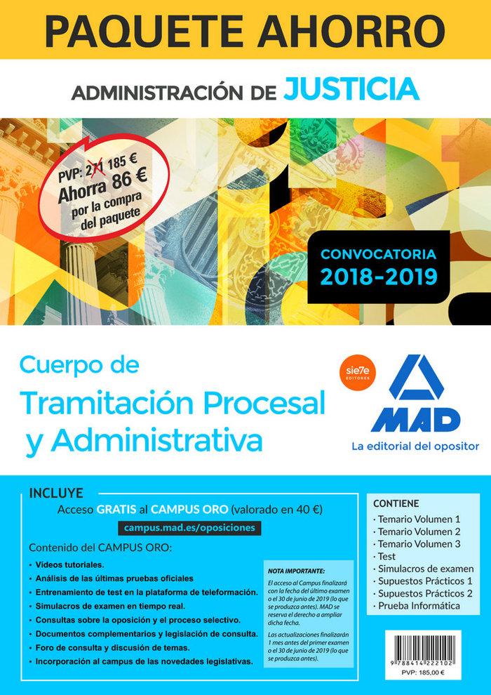 Paquete ahorro tramitacion procesal y administrativa (turno
