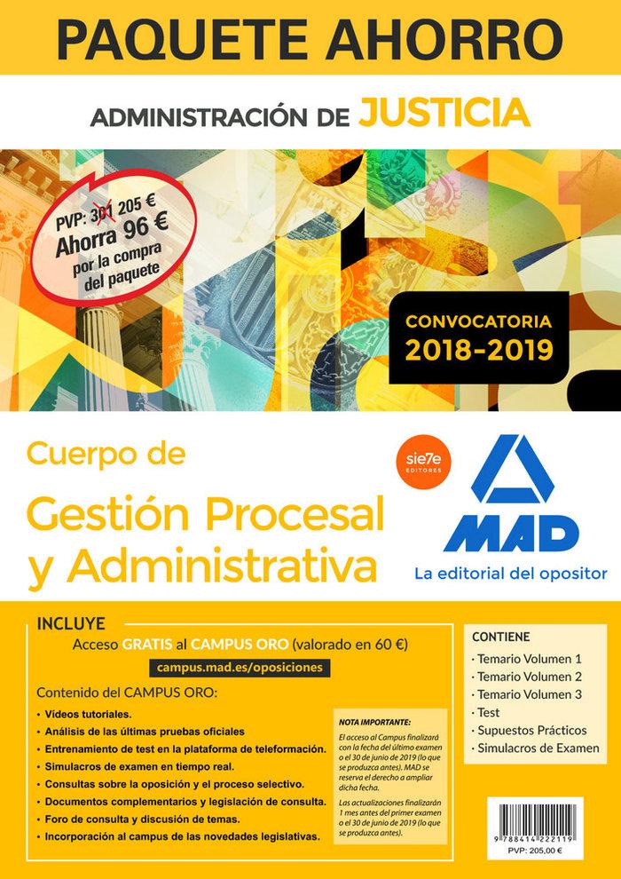 Paquete ahorro gestion procesal y administrativa (turno libr