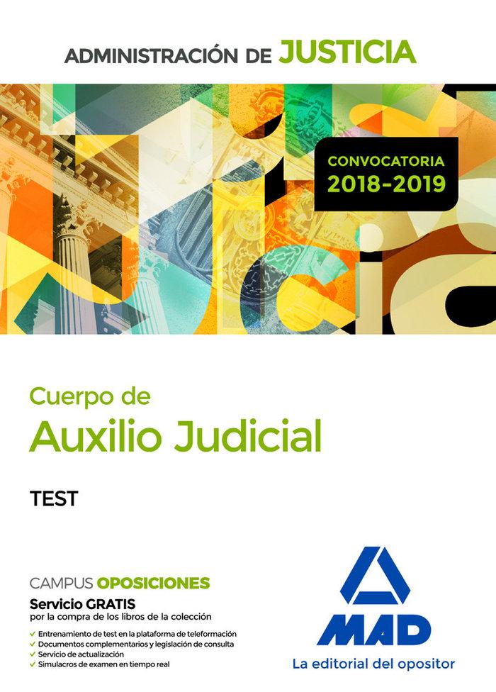 Cuerpo auxilio judicial administracion justicia test