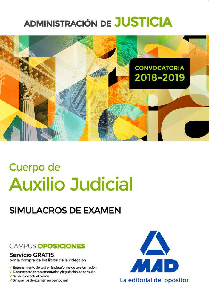 Cuerpo auxilio judicial administracion justicia simulacro e