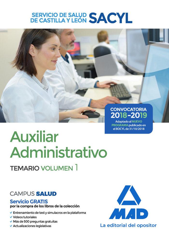 Auxiliar administrativo castilla y leon temario vol 1 2018