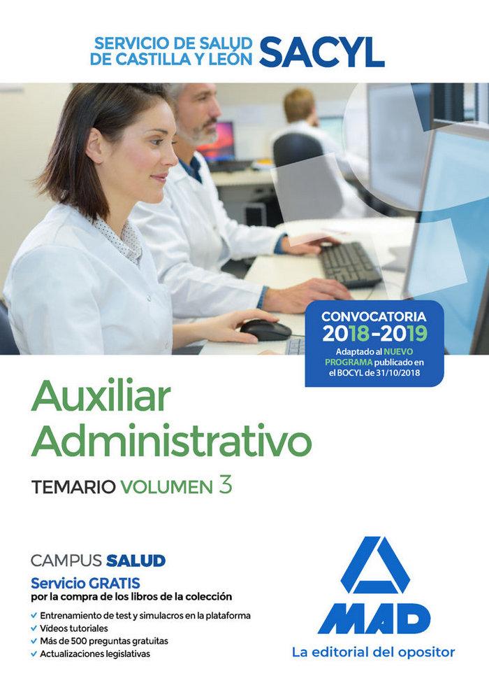 Auxiliar administrativo del servicio de salud de castilla y