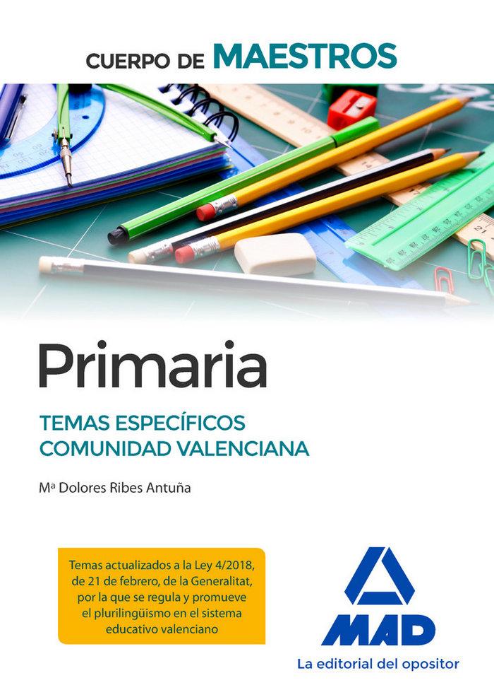 Cuerpo de maestros primaria temas especificos comunidad val