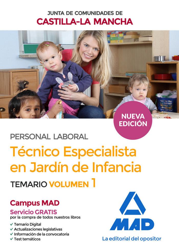 Tecnico especialista jardin infancia castilla mancha vol 1