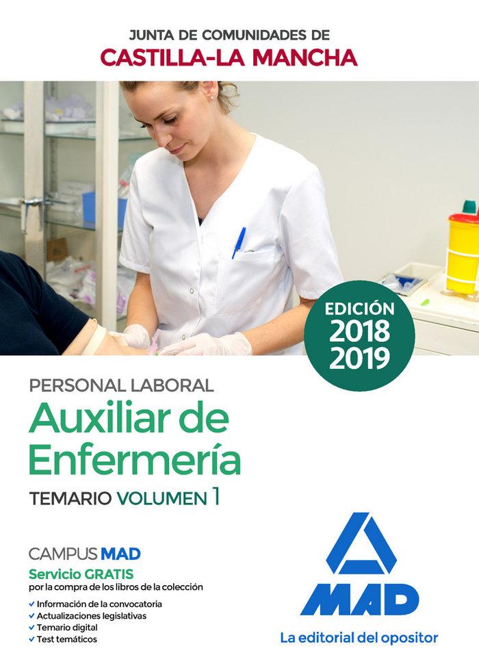 Auxiliar enfermeria personal laboral castilla mancha vol 1