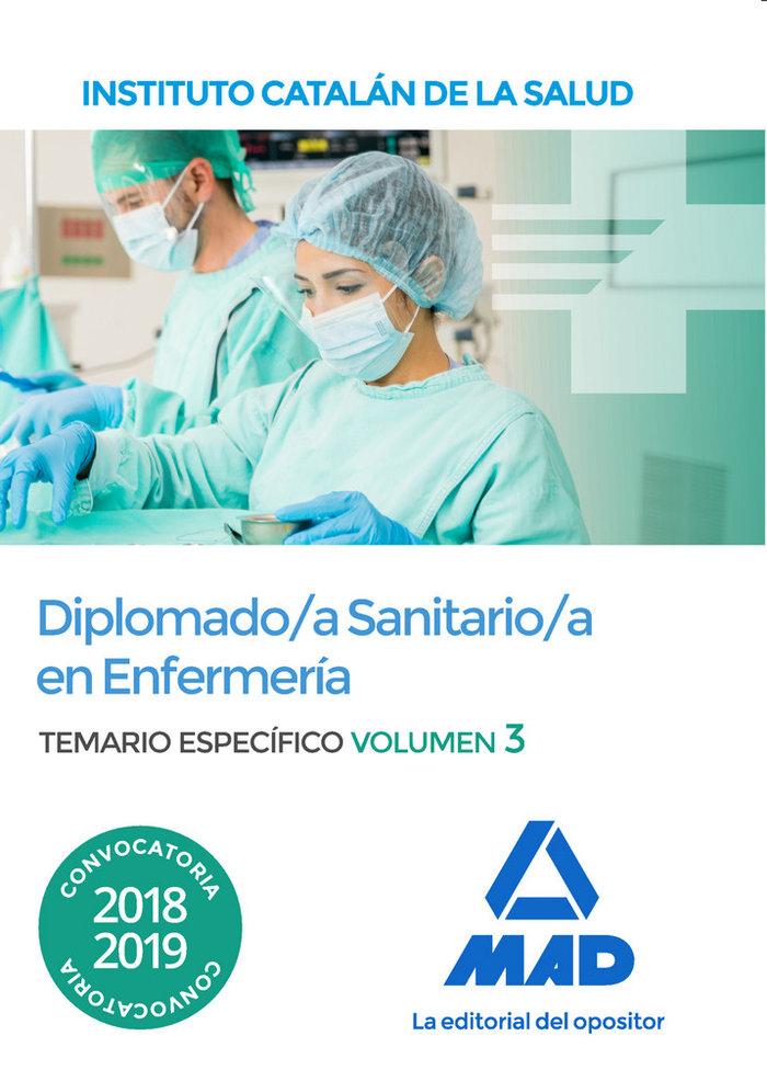 Diplomado/a sanitario/a enfermeria instituto catalan vol 3
