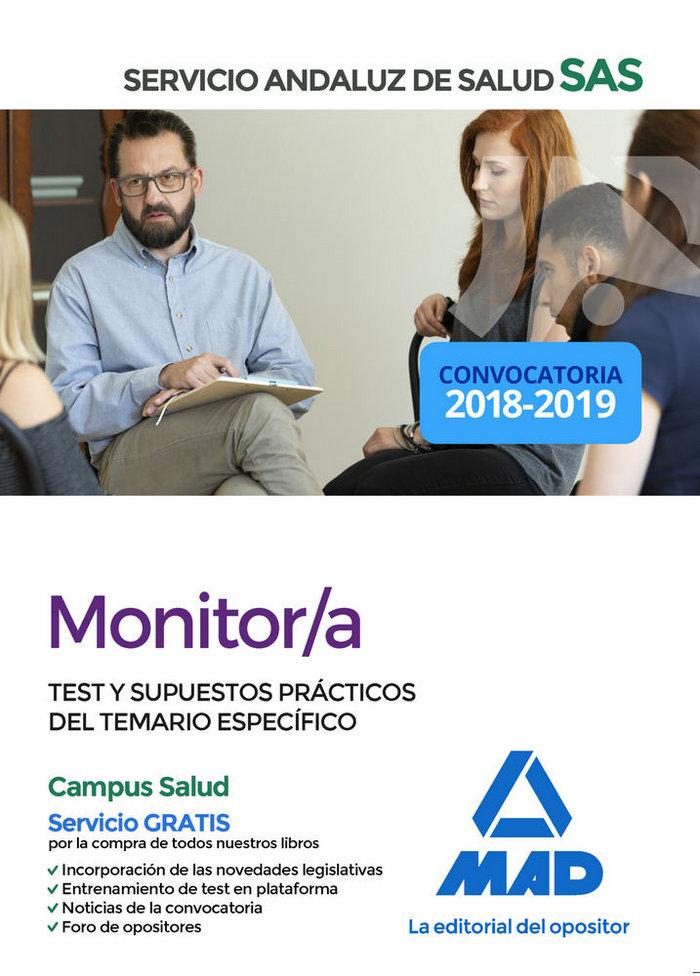 Monitor/a servicio andaluz salud test y supuestos practicos