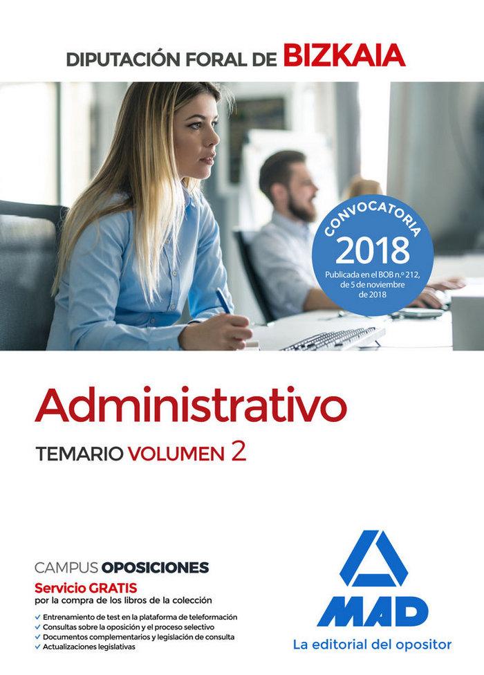 Administrativo diputacion foral bizkaia temario vol 2