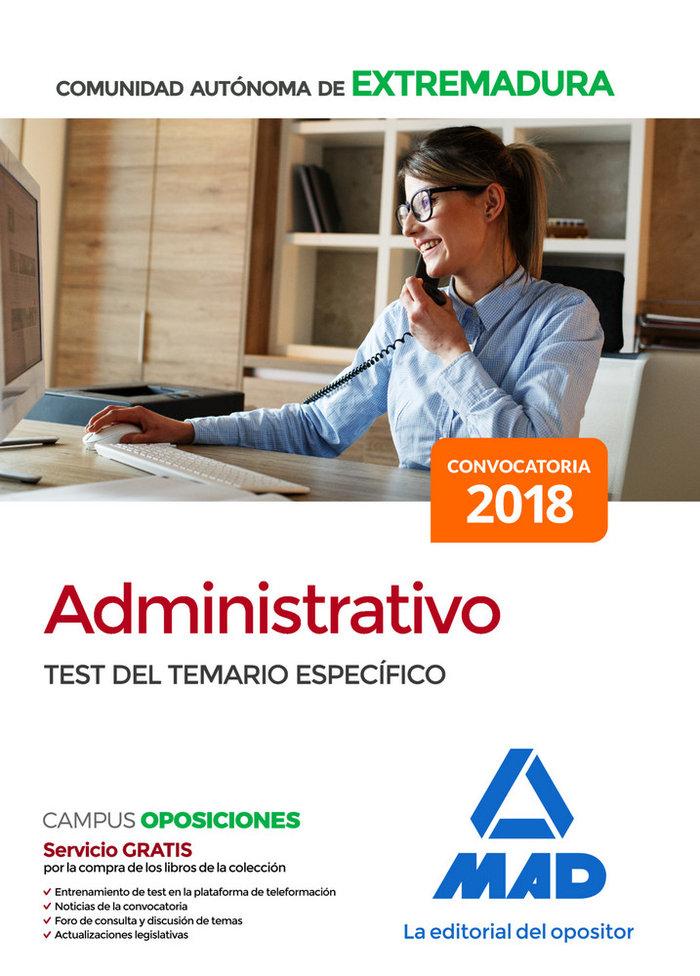 Administrativo comunidad autonoma extremadura test