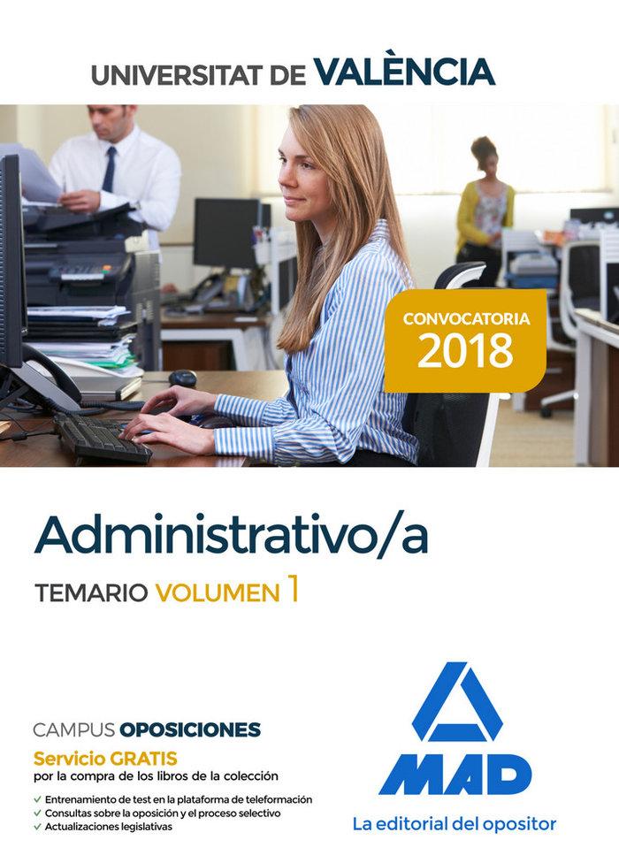 Administrativo universitat valencia temario volumen 1