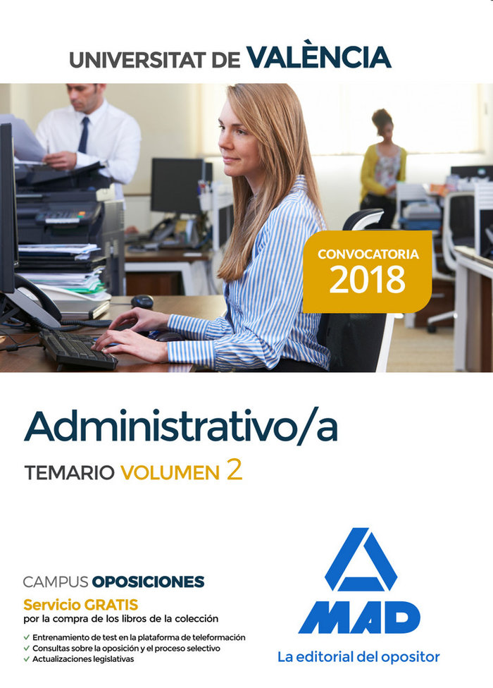 Administrativo universitat valencia temario volumen 2