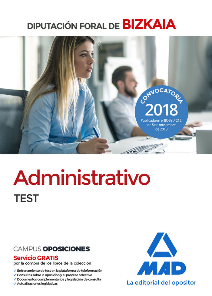 Administrativo diputacion foral bizkaia test