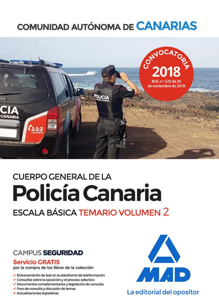 Cuerpo general policia canaria escala basica temario 2