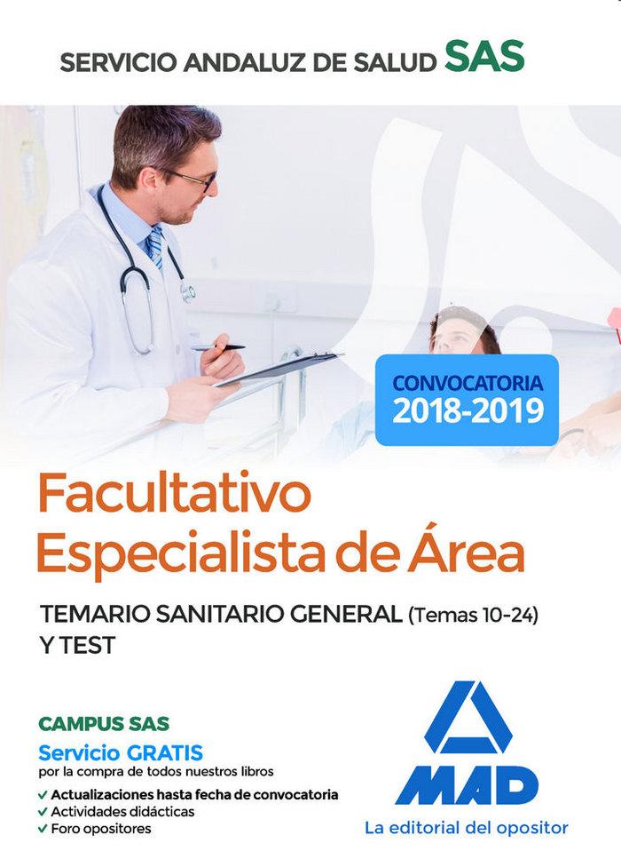 Facultativo especialista area servicio andaluz salud test