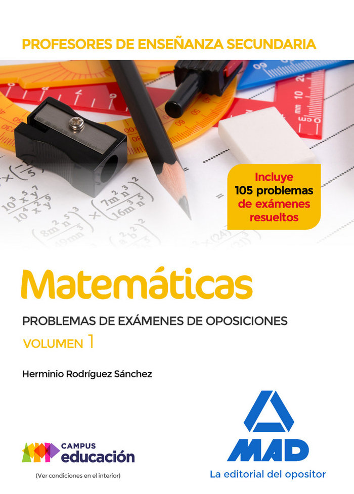 Profesores enseñanza secundaria matematicas problemas 1
