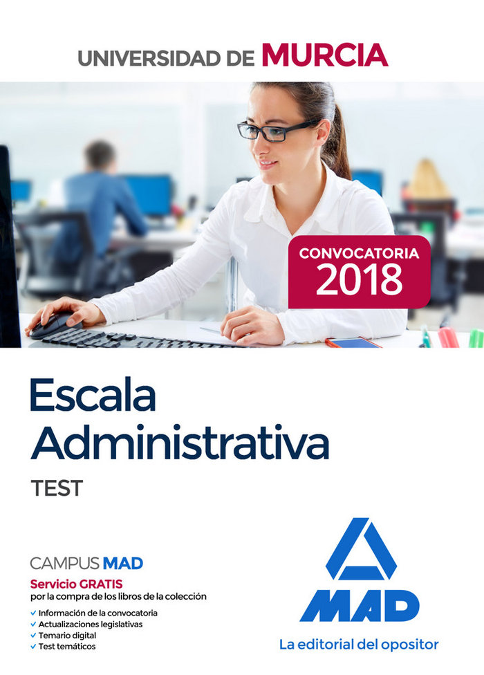 Escala administrativa universidad murcia test 2019