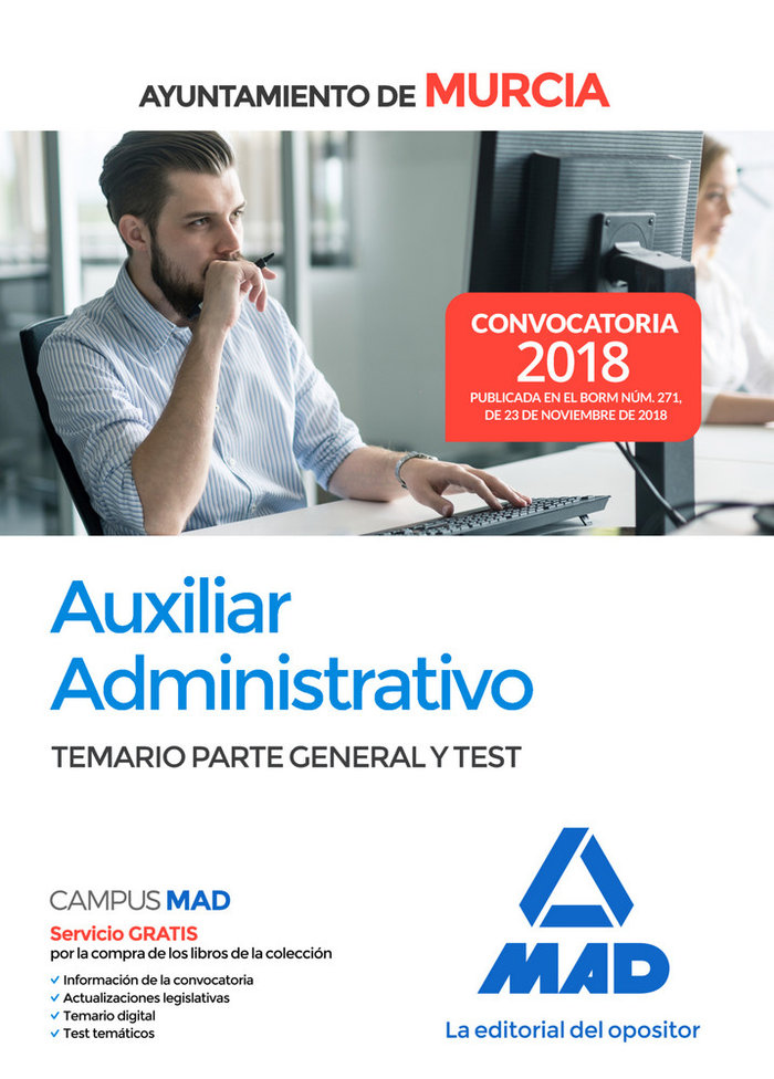Auxiliar administrativo ayuntamiento murcia temario test