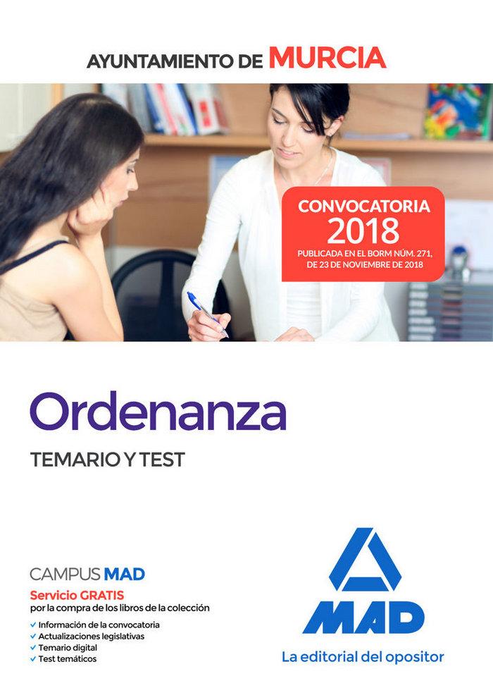Ordenanza ayuntamiento murcia temario y test