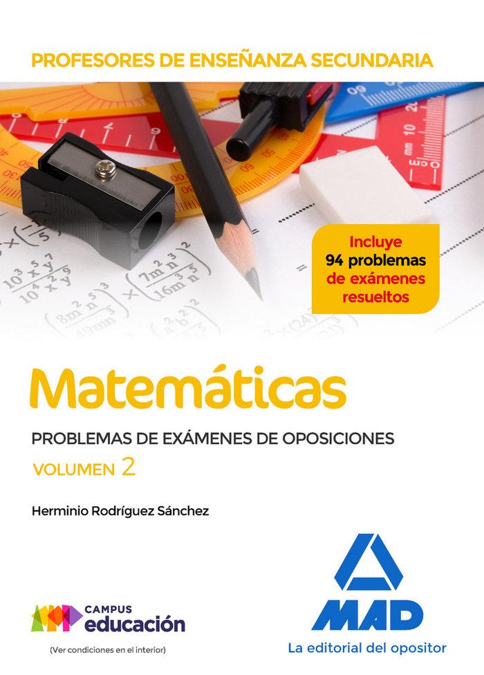 Profesores enseñanza secundaria matematicas problemas 2