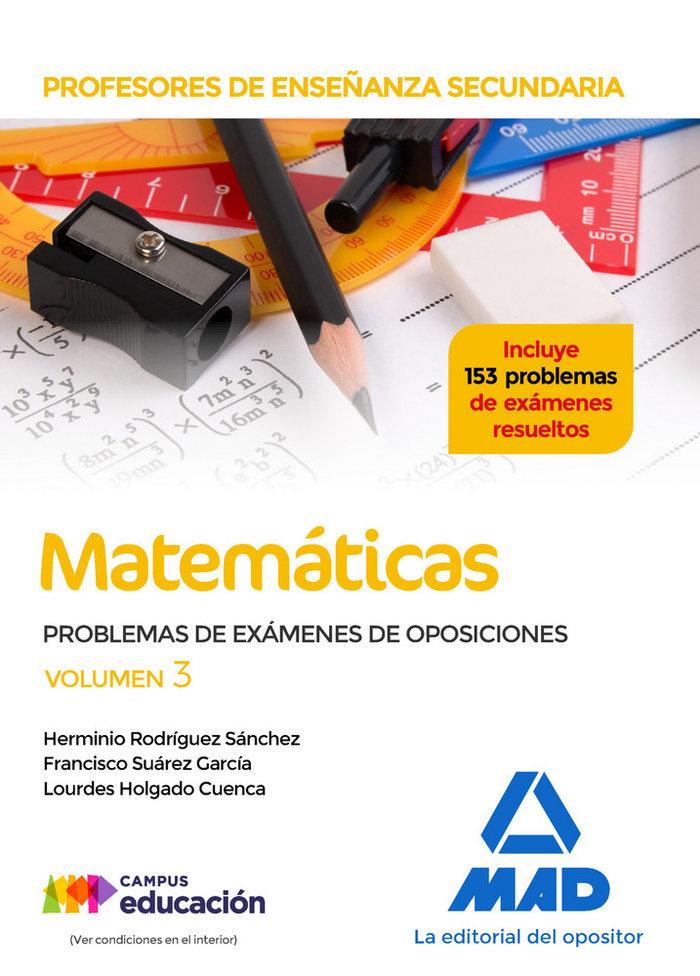 Profesores enseñanza secundaria matematicas problemas 3