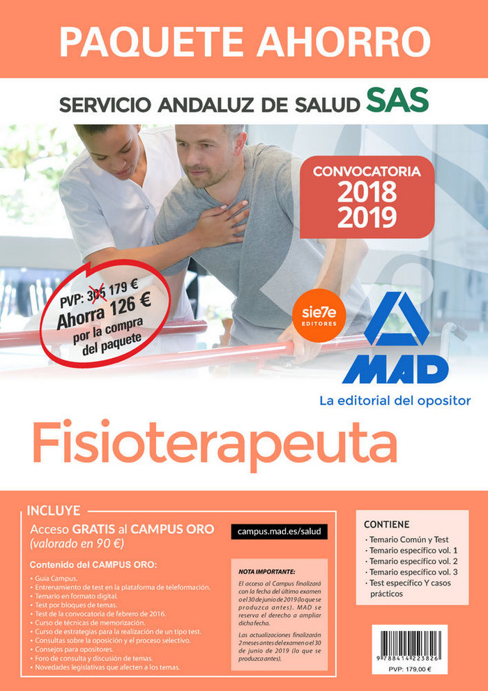 Paquete ahorro fisioterapeutas servicio andaluz salud