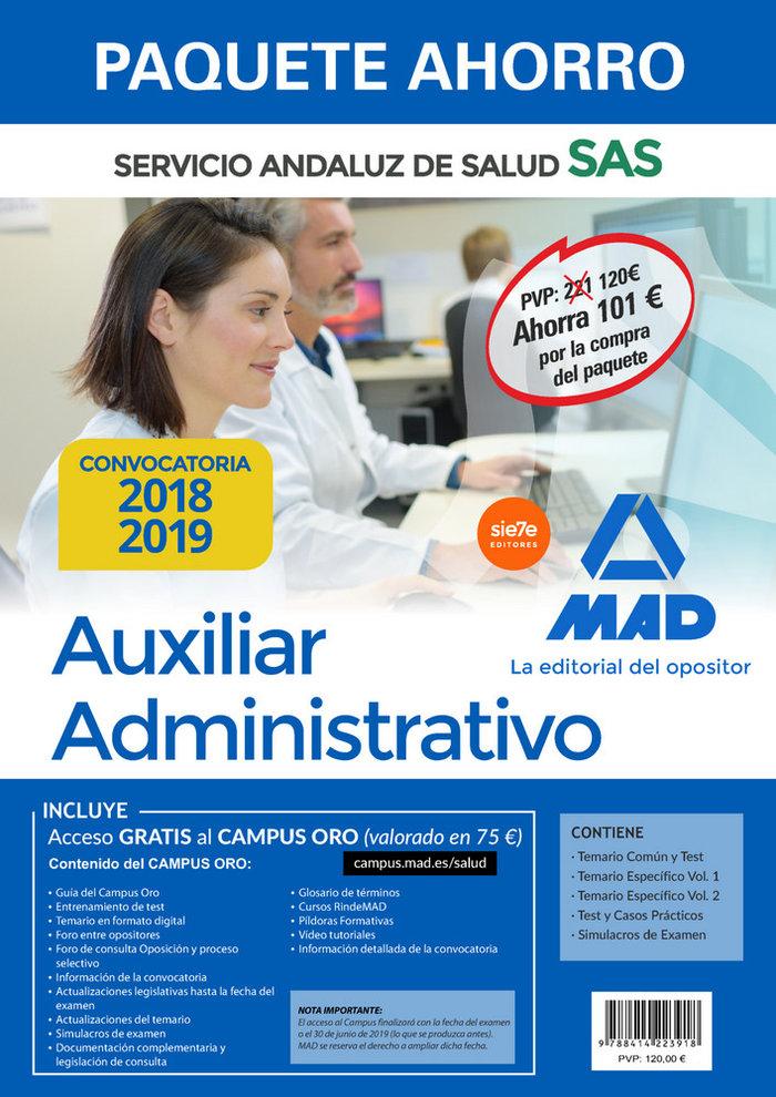 Paquete ahorro auxiliar administrativo servicio andaluz sal