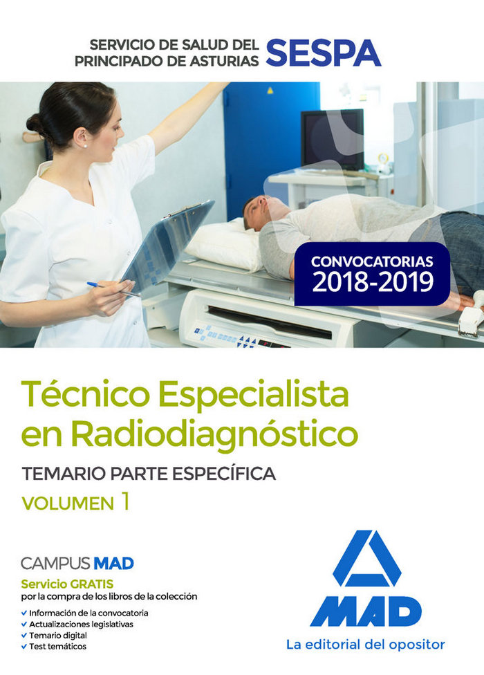 Tecnico especialista radiodiagnostico sespa vol 1