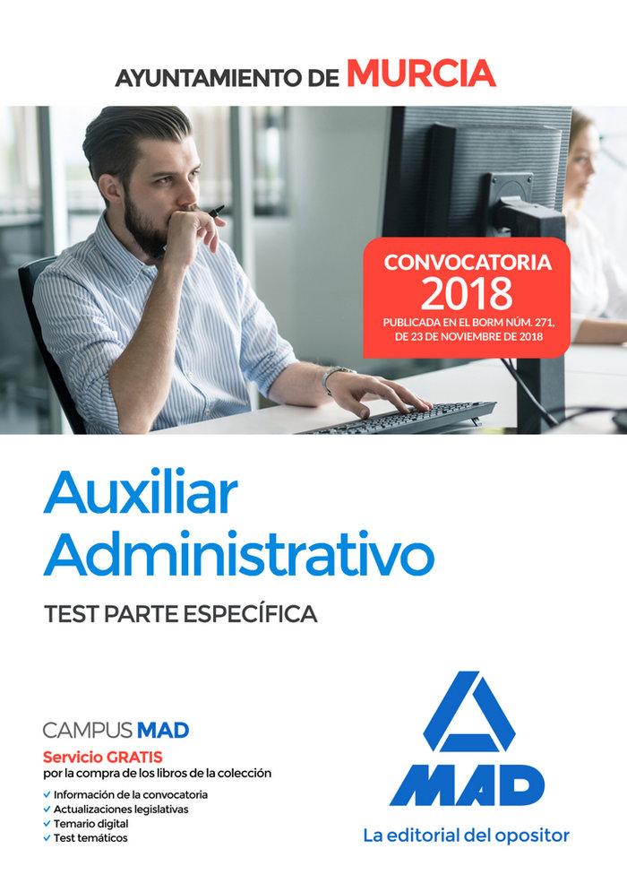 Auxiliar administrativo ayuntamiento murcia test especifico