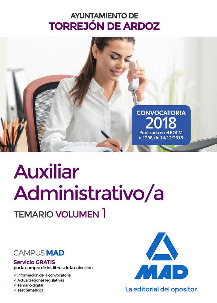 Auxiliar administrativo/a ayuntamiento torrejon ardoz vol 1