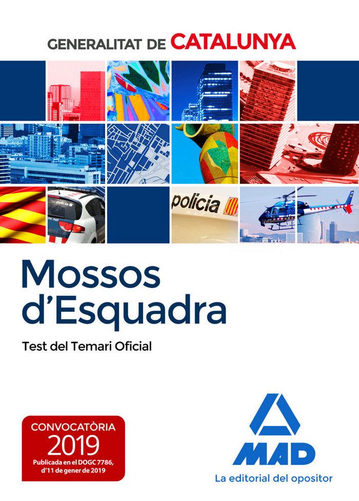 Mossos desquadra test del temari oficial