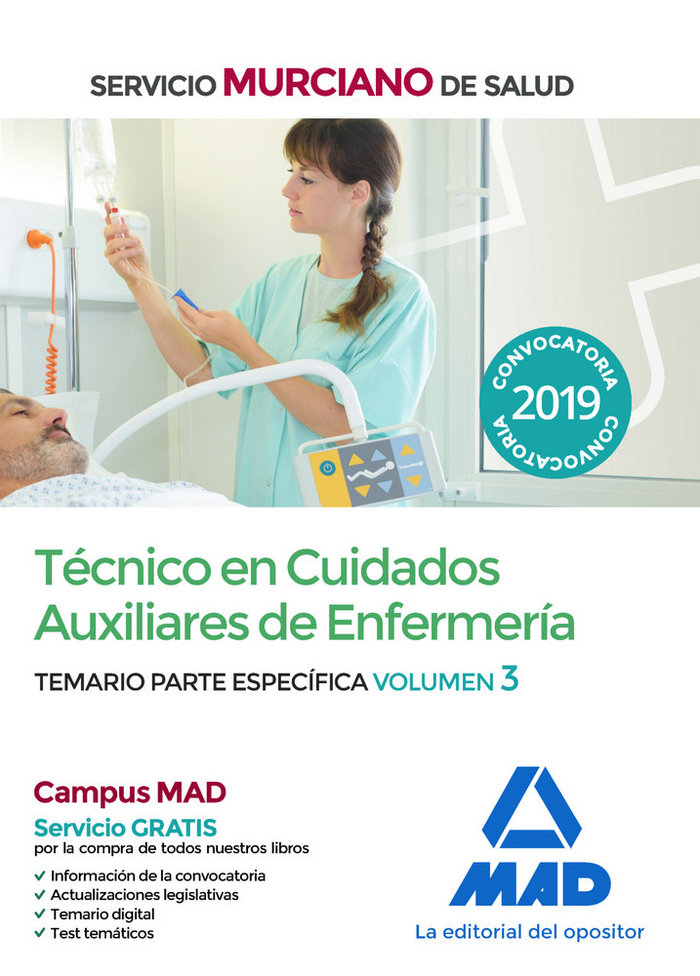 Tecnico cuidados auxiliares enfermeria murica vol 3