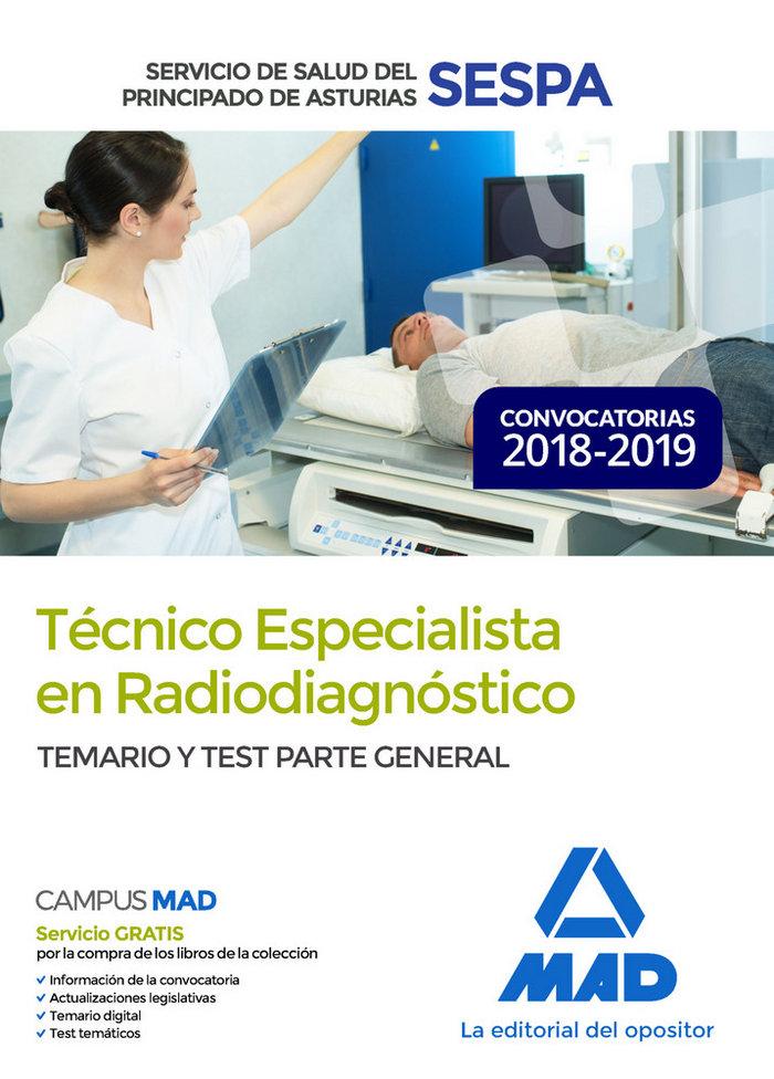Tecnico especialista radiodiagnostico principado astur test