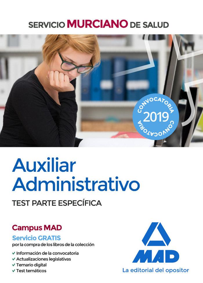 Auxiliar administrativo servicio murciano salud test especi