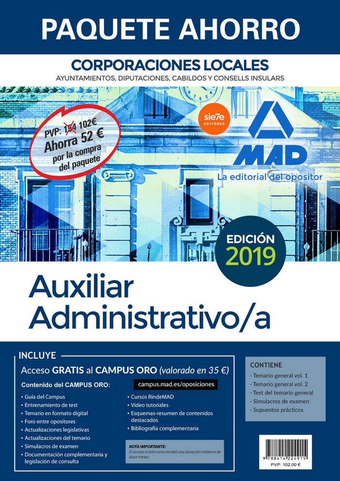 Paquete ahorro auxiliar administrativo de corporaciones loca