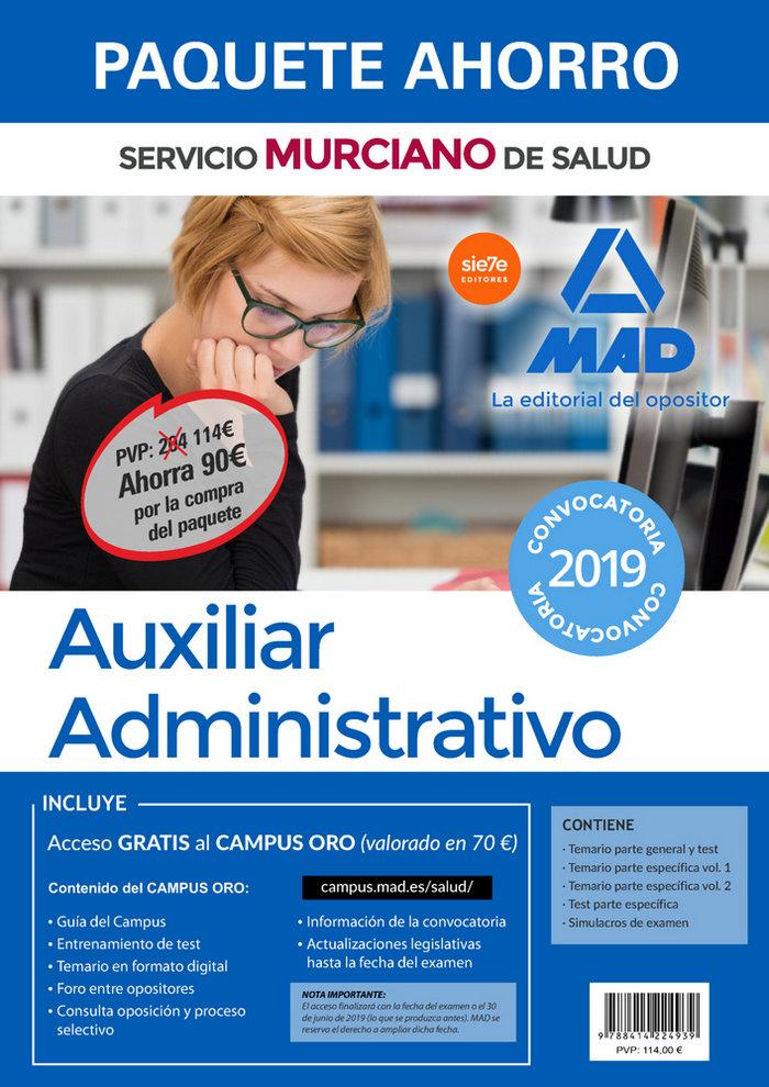Paquete ahorro auxiliar administrativo del servicio murciano