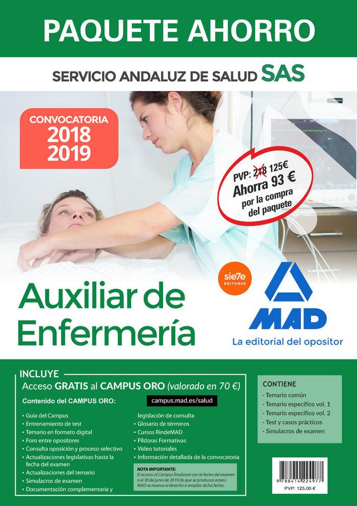 Paquete ahorro auxiliar enfermeria servicio andaluz salud