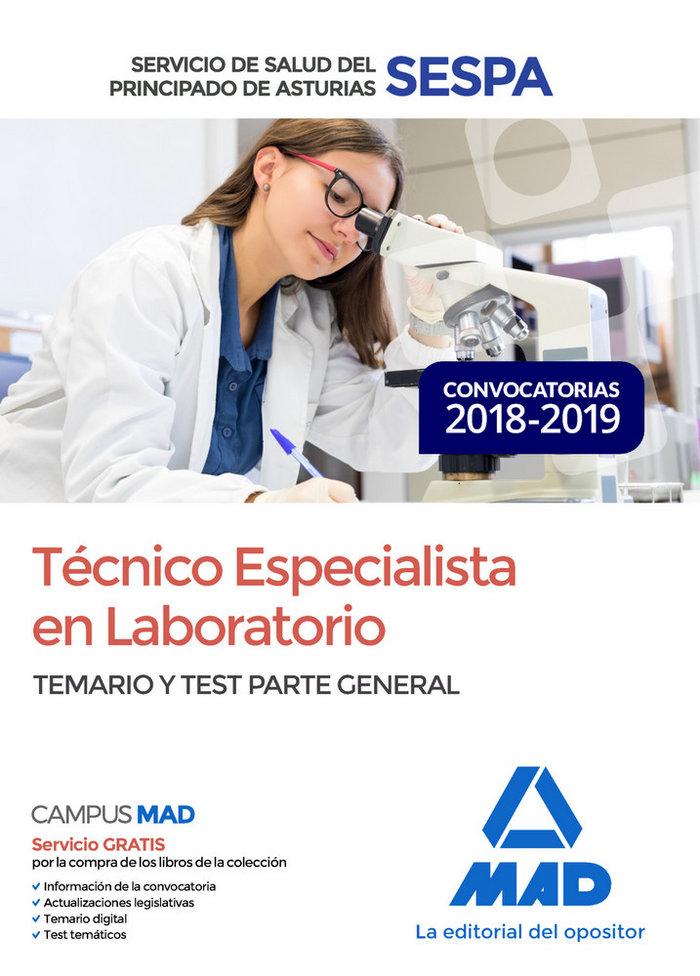 Tecnico especialista laboratorio servicio salud sespa test