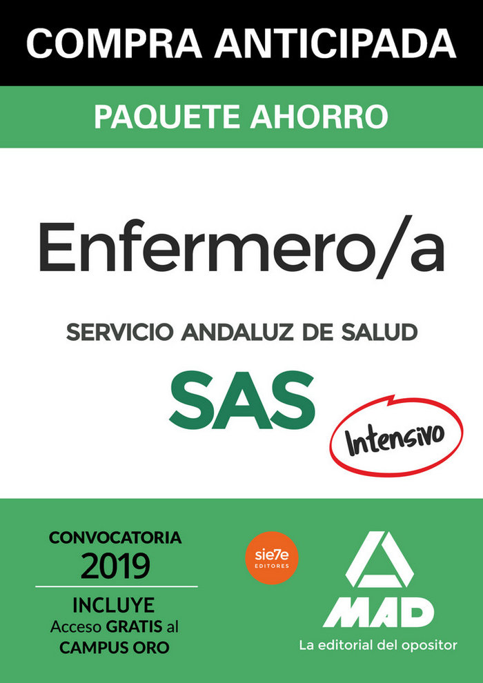 Paquete ahorro enfermero/a servicio andaluz salud 2019