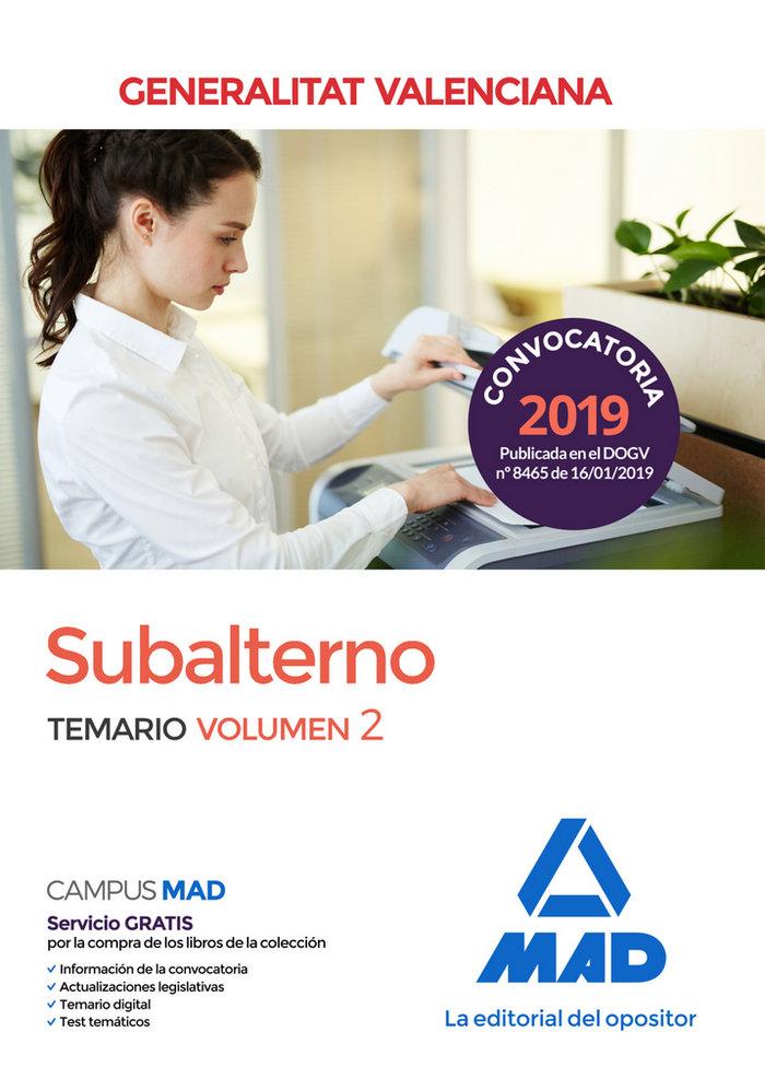 Subalternos temario 2 generalitat valenciana