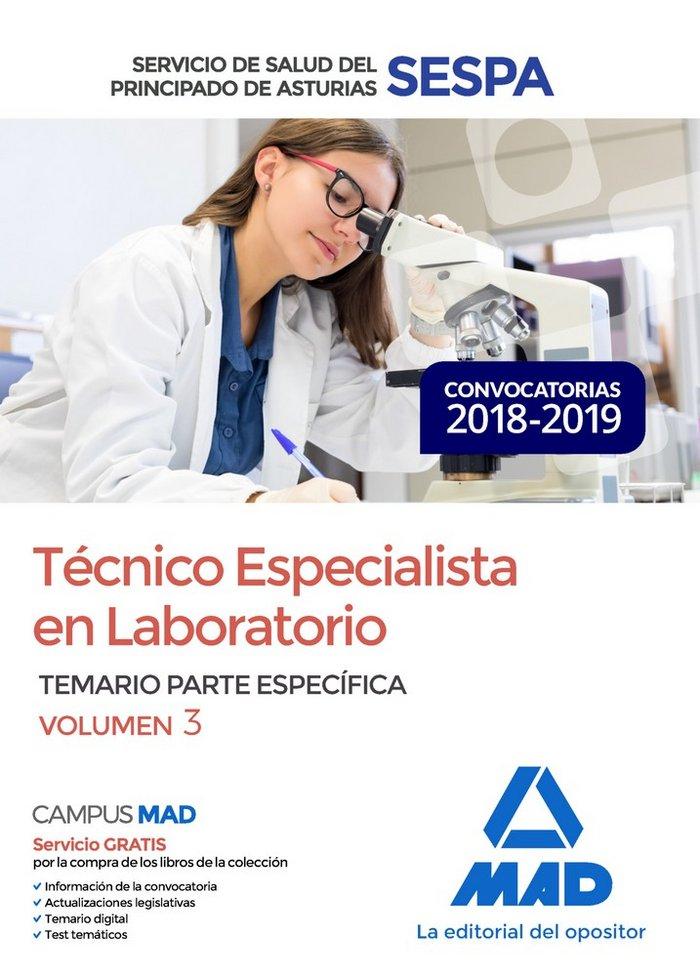 Tecnico especialista en laboratorio del servicio de salud de