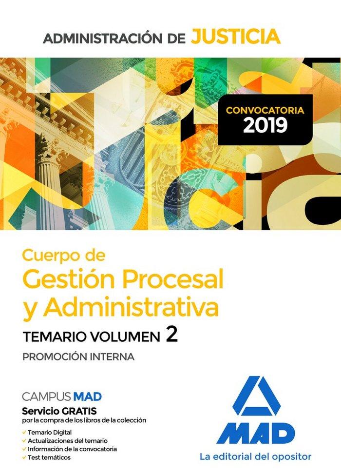 Cuerpo gestion procesal y administrativa justicia vol 2