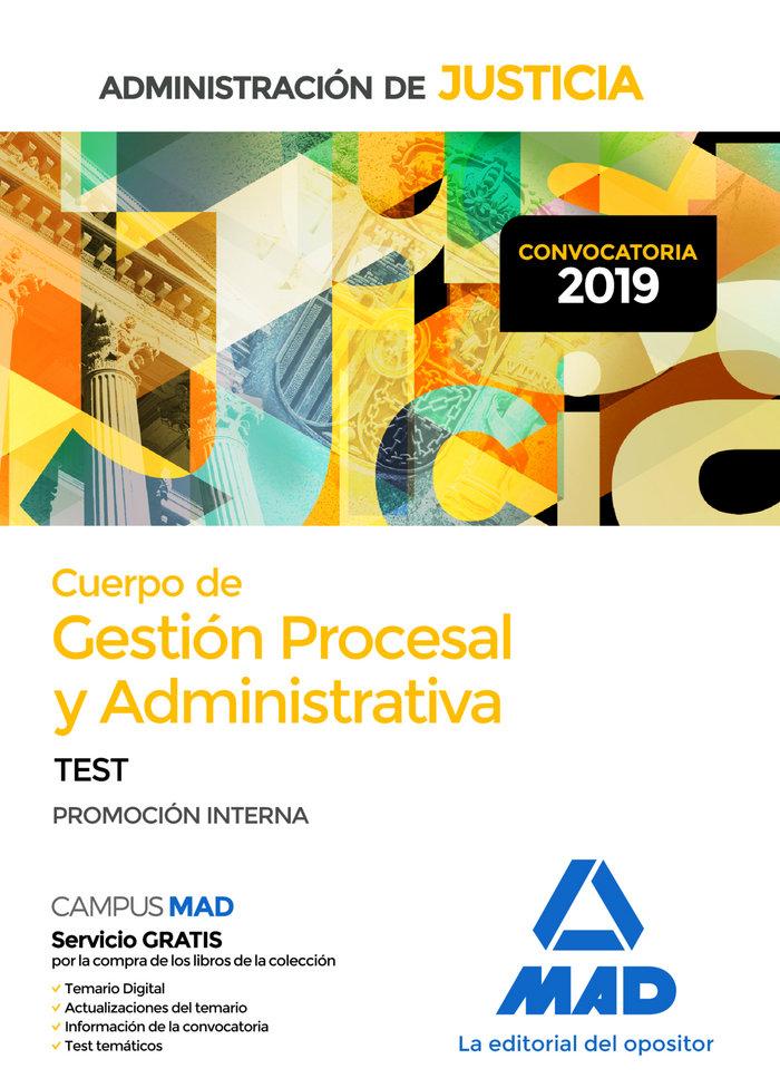 Cuerpo gestion procesal y administrativa test justicia