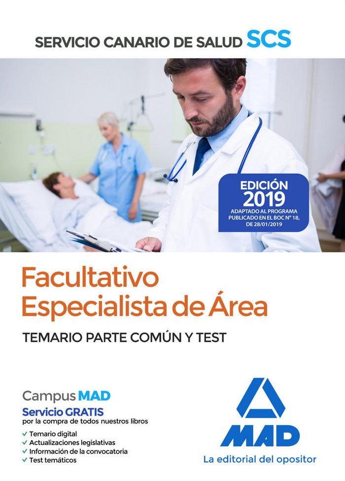 Facultativo especialista 2019 comun y test servicio canario